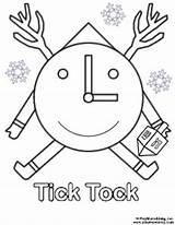 Tick Coloring Tock Template Templates sketch template