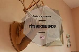 Tete De Cerf En Carton : test et approuv t te de cerf 3d ~ Teatrodelosmanantiales.com Idées de Décoration
