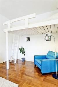 Holz Für Hochbett : die besten 25 hochbett ideen auf pinterest hochbett selbstgemachtes plattform bettgestell ~ Markanthonyermac.com Haus und Dekorationen