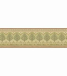 Welcome Home Tree Wallpaper Border, Beige