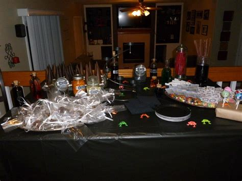 harry potter table l harry potter party homemade parties for everyone