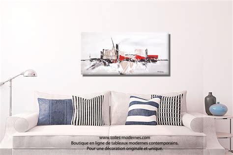 peinture deco chambre tableau taupe gris moderne à reliefs grand format