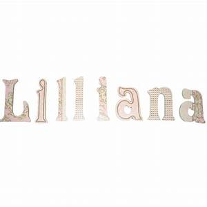 lilliana pink toile hand painted wall letters With paintable wall letters
