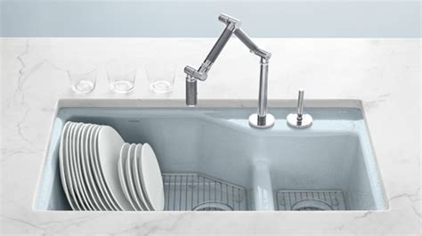 Kohler Enameled Cast Iron Sink Colors by At Home Finding A Kitchen Sink Celebrate Decorate