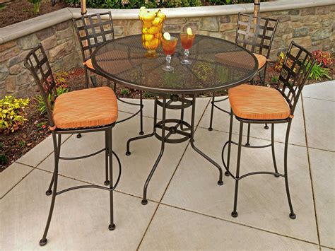 ow lee micro mesh wrought iron   bar table