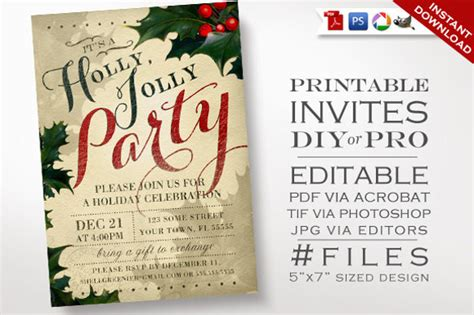 christmas invitation templates psd ai word