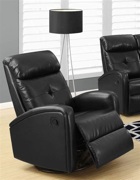 leather swivel recliner 8088bk black bonded leather swivel glider recliner 8088bk