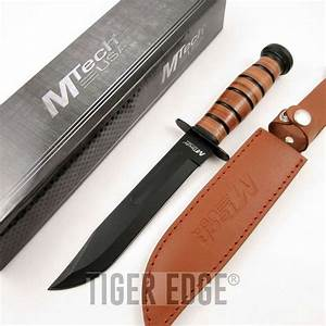 "Mtech 12"" Classic Marine Combat Knife Black Blade w ..."