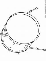 Drum Bass Pages Coloring Colouring Music sketch template