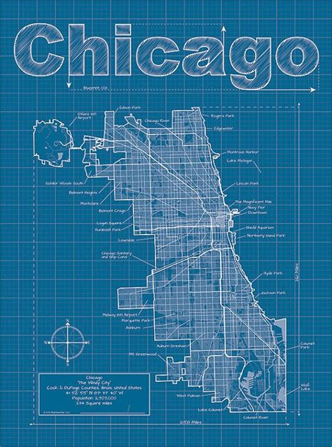 Blueprint Chicago Map