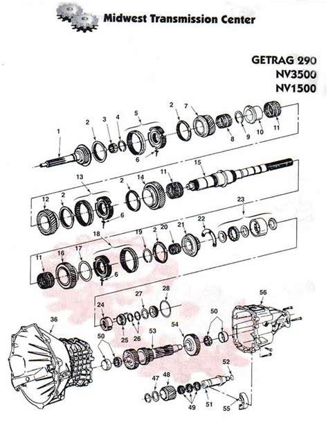Chevy Manual Nv3500 Transmission Diagram by Nv3500 Dodge Ram Dakota Chevrolet S10 Gmc Isuzu Rebuilt