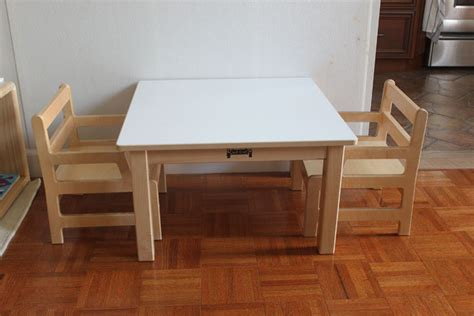weaning table and chair montessori on the