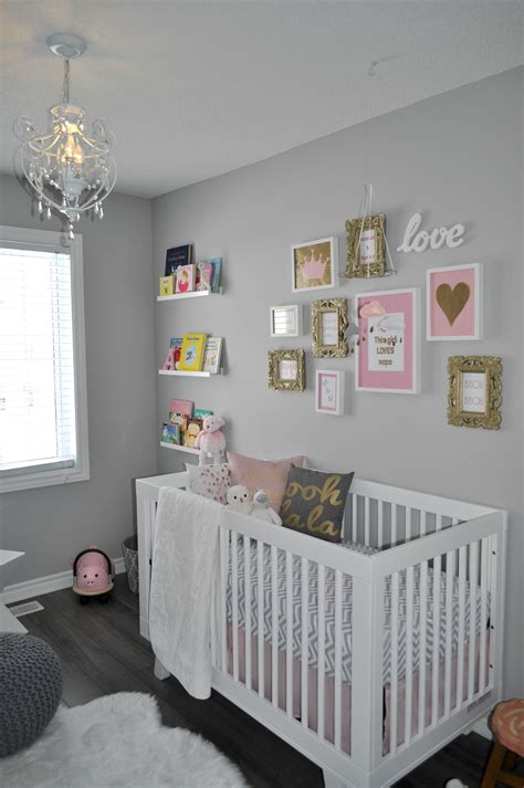 Going To Nursery Book by Aura S Pretty Nursery In Pink Gold And Gray The Little