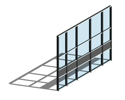 aa110 65mm curtain wall system dual colour bimstore