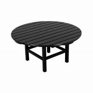 black outdoor coffee tables patio tables the home depot With black round outdoor coffee table