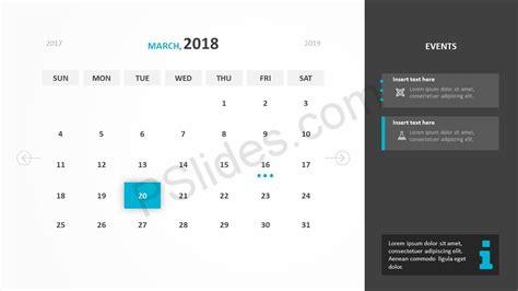 calendar template for powerpoint free 2018 calendar powerpoint template pslides