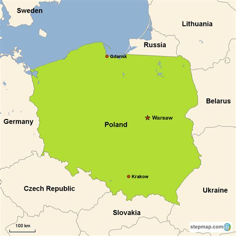 map  poland today  travel information
