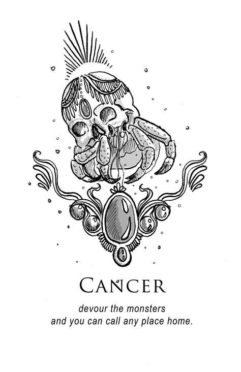 Amrit Brar's Portfolio - Book VII: Magick | Cancer horoscope, Cancer zodiac art, Horoscope tattoos