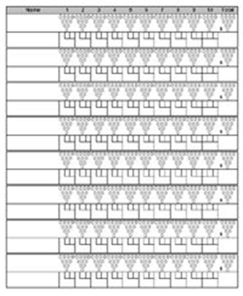 bowling score sheet  pin template bowling