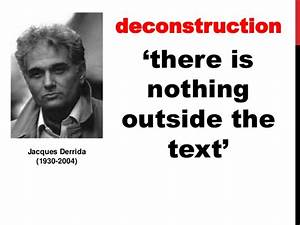 What is postmod... Derrida Jacques Quotes