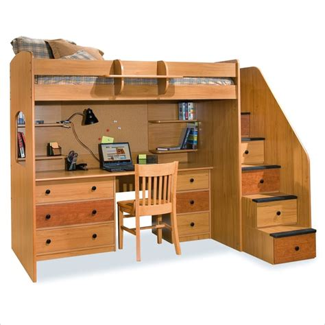 bed with desk and storage lowest price online on all berg furniture utica lofts twin
