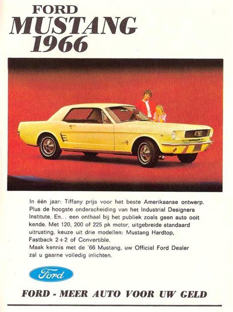 ford mustang  ad german language mustang cars