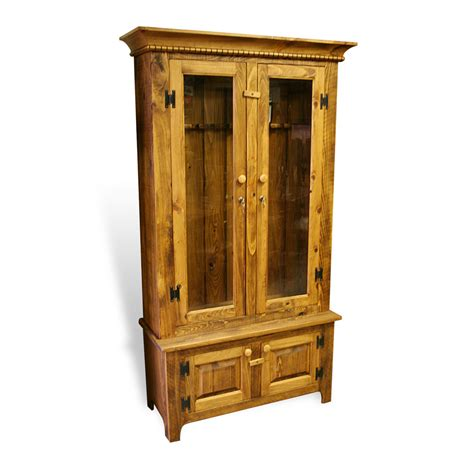 Gun Cabinets For Sale by Rustic Shaker Gun Cabinet