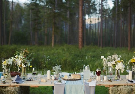 rustic outdoor montana wedding alyssa paul real