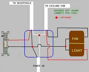 Wiring A Dual Switch To A Dimmer And Fan