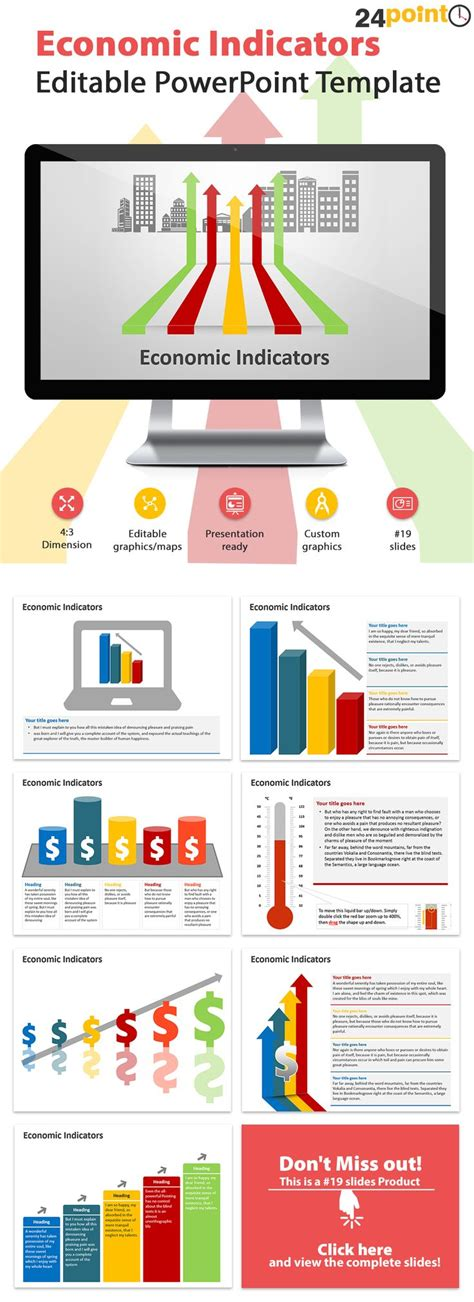 economic indicators powerpoint template   economic