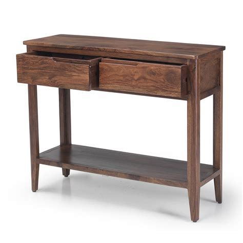 Padstow Walnut Dark Wood Furniture Console Hall Table With