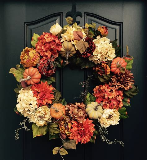 wreaths for fall reserved fall wreath front door wreaths holiday by twoinspireyou