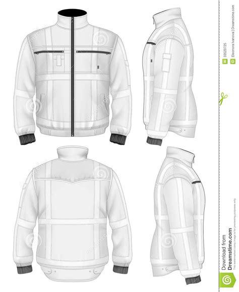 mens reflective safety jacket stock vector illustration