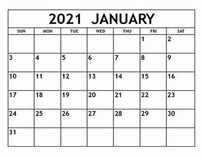 Calendar 2021 January Calendars Printable Monthly Template