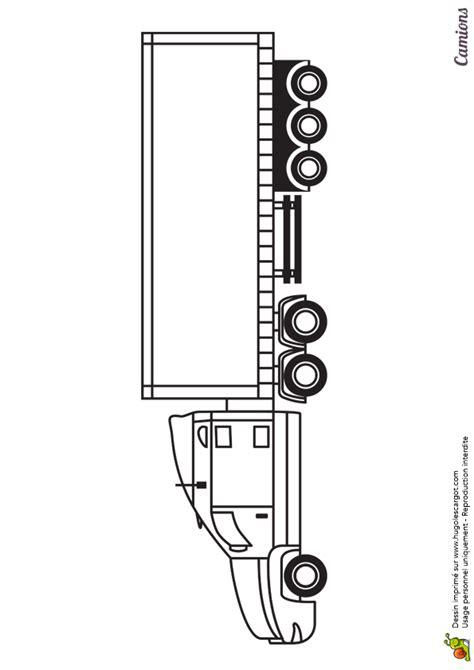 dessin  imprimer  colorier dun poids lourd