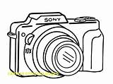 Camera Coloring Pages Compact Printable Sheet Getcolorings Sky Coloringsky sketch template