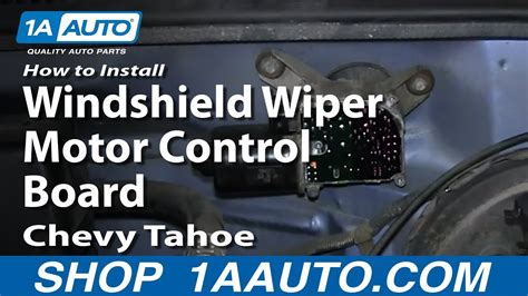 repair windshield wipe control 1993 chevrolet caprice classic interior lighting how to install replace windshield wiper motor control board 1995 99 chevy tahoe gmc yukon youtube