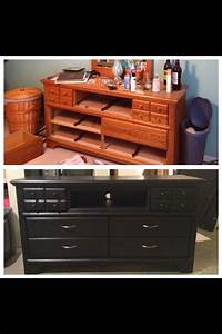 My friend is so crafty!! Old dresser turned into a tv