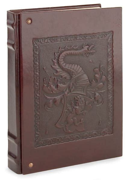 barnes and noble journals patina brown with studs embossed italian leather