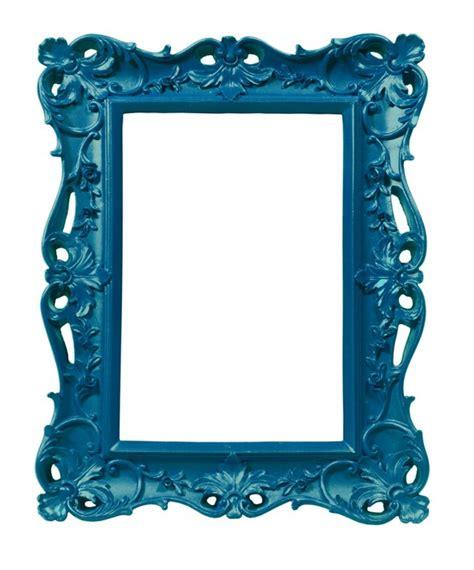 cadre photo style ancien sticker cadre de style ancien baroque bleu artiste sticker mural pixers fr