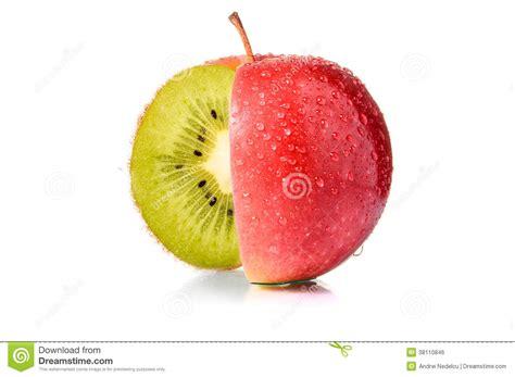 pomme al interieur pomme avec le kiwi 224 l int 233 rieur image libre de droits image 38110846