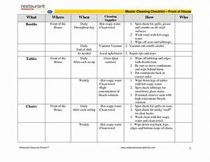 kitchen cleaning schedule template cleaning schedule With janitorial schedule template