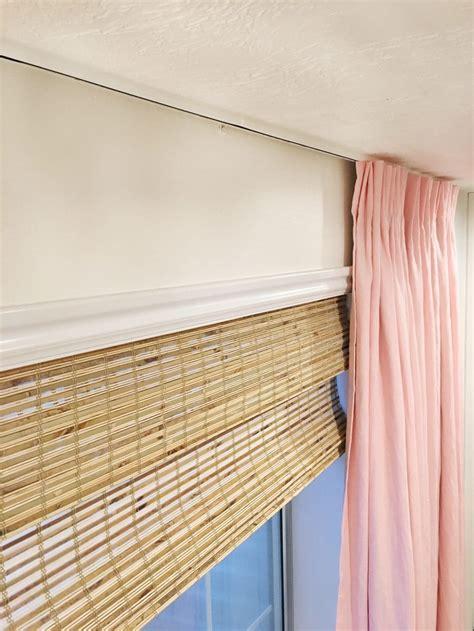 ceiling curtain rod a ceiling mount curtain rod chris