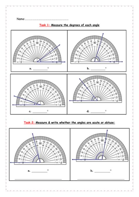 angle measuring with protractor by thegirlinthereddress teaching resources tes
