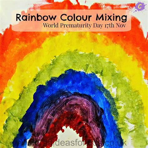 Rainbow Colour Mixing   Craft Ideas for Kids