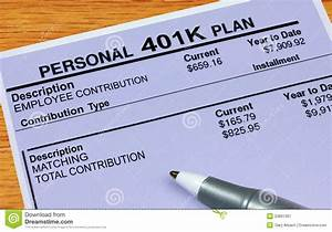 personal 401k plan statement royalty free stock With 401k documents