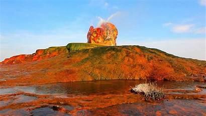 Geyser Nevada Fly Rocks Colorful Water