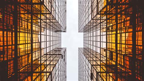 modern architecture glass skyscrapers  wallpaper desktop