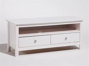 meuble tv bas en bois massif avec 2 tiroirs longueur 110cm With meuble 110