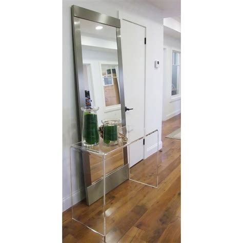 floor mirror console table clear acrylic console table clear acrylic console table